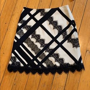 Nanette Lepore skirt w ribbons and lace